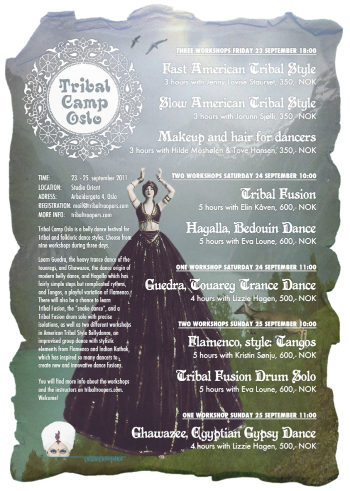 Tribal Camp Oslo 2011 flyer