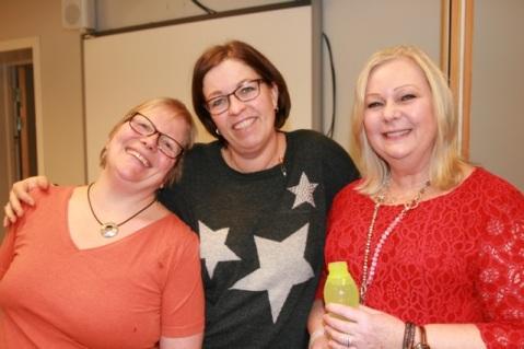 Tre veteraner i Hauken-sammenheng, Negesti, Trude og Bente. Uten dem..